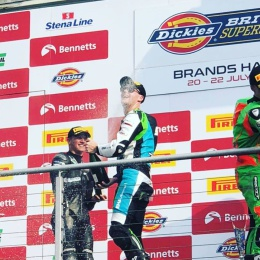 Pole position then 1st and 2nd in British Supersport